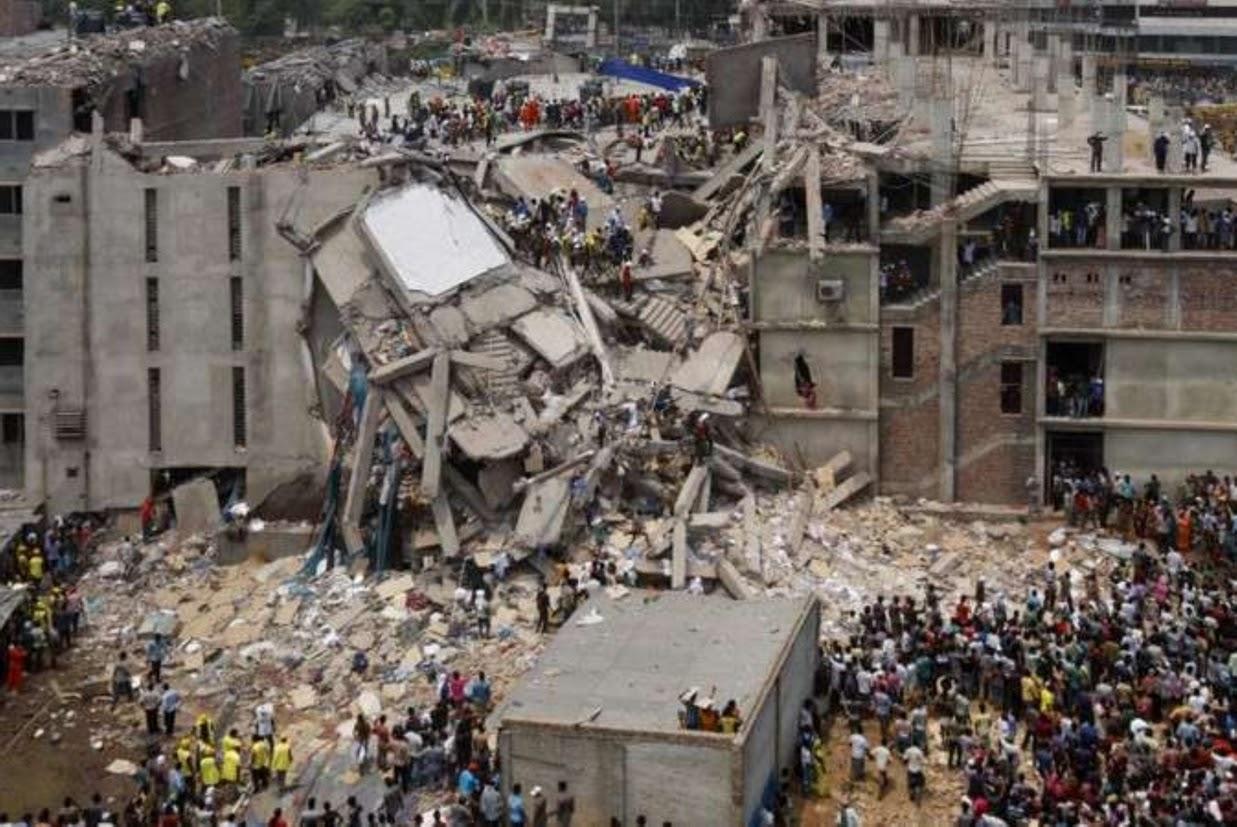 Rana Plaza edificio crollato